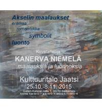 Taidenäyttely: Akselin maalaukset - erämaa - romatiikka - symbolit -luonto, Kanerva Niemelän maalauksia