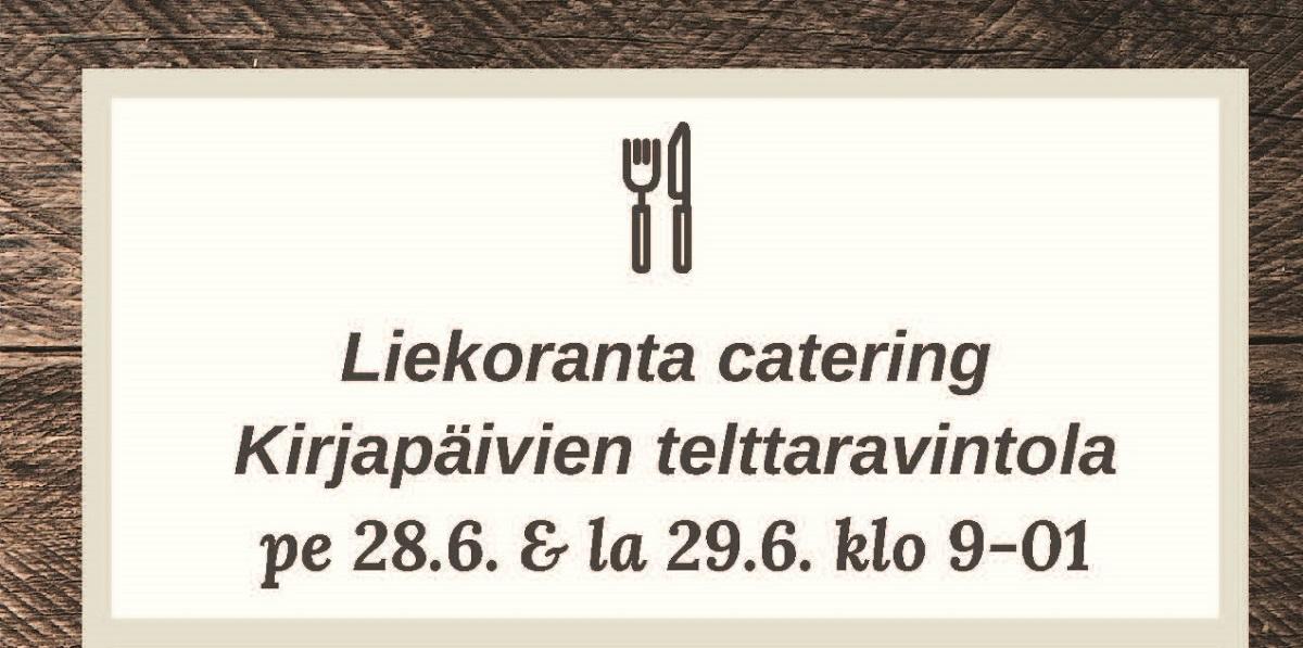 Kirjapäivien telttaravintola Salosen Pyörä ja Mopo: Juice tribuutti