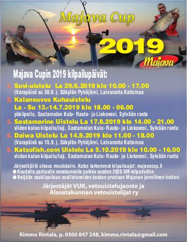Majava Cup 2019 (Sastamarine Uistelu la 17.8.2019 Sylvään ranta, klo 14.00-21.00)