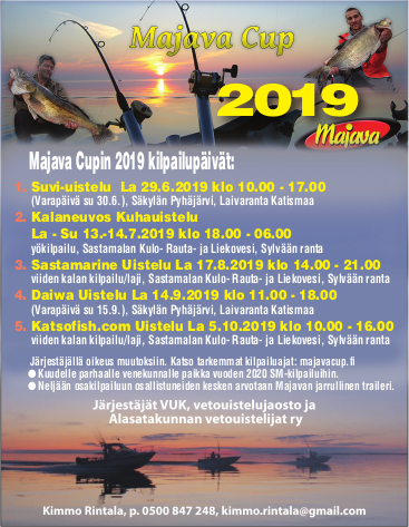 Majava Cup 2019  (Daiwa Uistelu la 14.9.2019 Säkylän Pyhäjärvi)